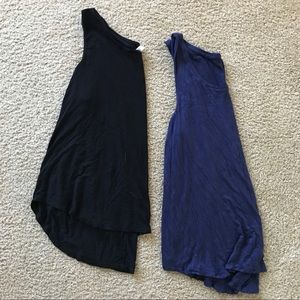 2 old navy lux tank tops! 1 black & 1 navy